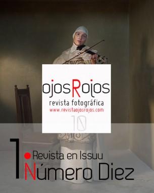 Foto de Eugenio Recuenco portada de revista de fotografía Ojos Rojos